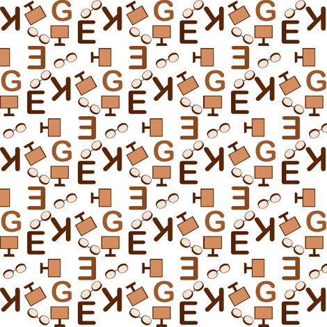 truly_geeky fonts accessories fabric by anino on Spoonflower - custom fabric
