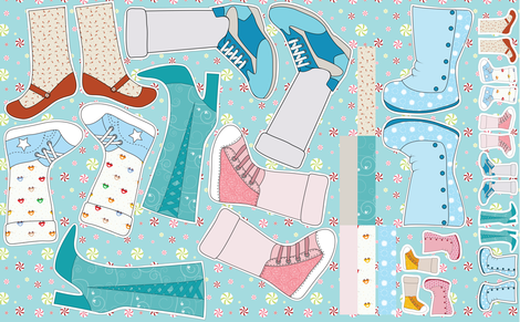 Christmas Stockings Cute & Sew fabric by witee on Spoonflower - custom fabric