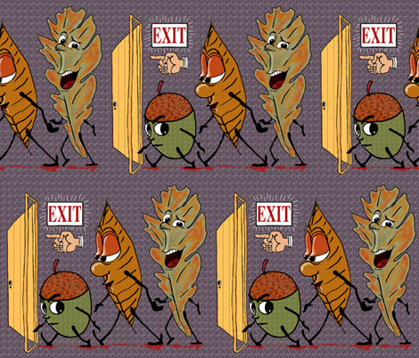 fall leaves. fabric by amy_g on Spoonflower - custom fabric