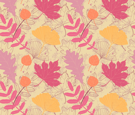 Autumn leaves fabric by lenivec on Spoonflower - custom fabric