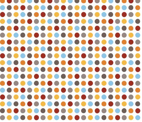 Dino Dots fabric by jenimp on Spoonflower - custom fabric
