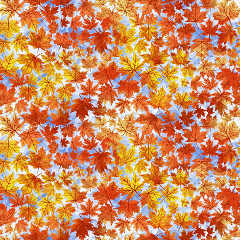 Falling Autumn Leaves fabric by art_on_fabric on Spoonflower - custom fabric