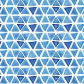 Blue Watercolor Triangles