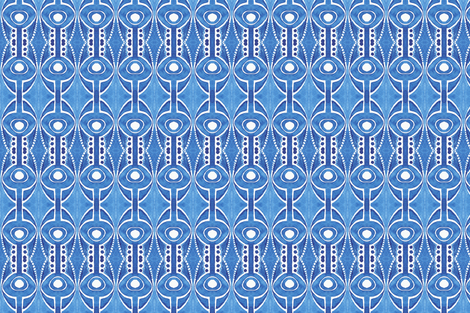 Blue Watercolor Abstract fabric by katebutler on Spoonflower - custom fabric