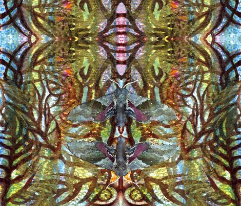 Leaf_Vein & Moth  fabric by rubyrice on Spoonflower - custom fabric