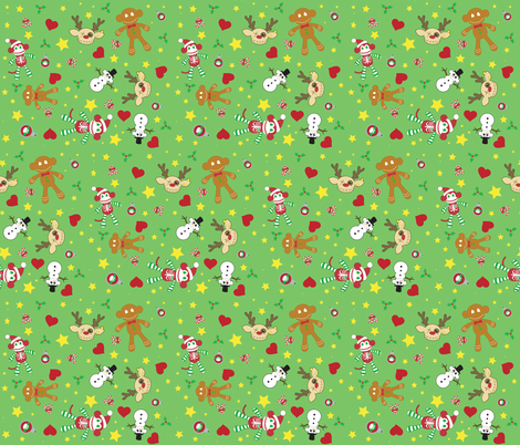A Very Macabre Christmas fabric by staceyjean on Spoonflower - custom fabric