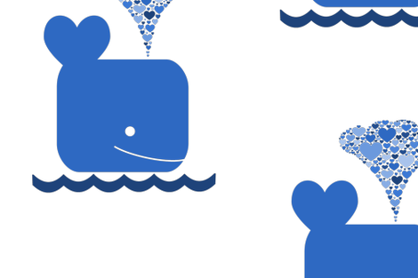 WHALE fabric by scorpiusblue on Spoonflower - custom fabric