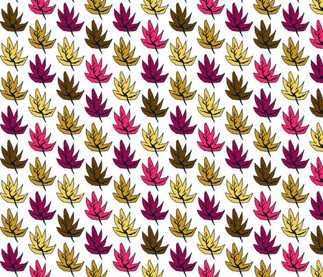 Like Little Leaves fabric by van_winkle on Spoonflower - custom fabric