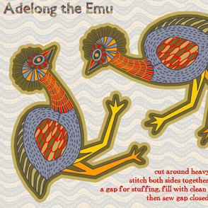 Adelong the Emu FQ Kit
