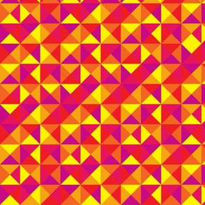 (G2) - Triangles in squares in warm colors