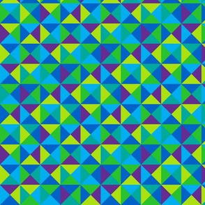 (G3) - Triangles in squares in cool colors