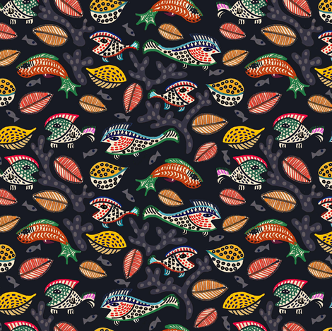 Autumn Waters fabric by susan_polston on Spoonflower - custom fabric