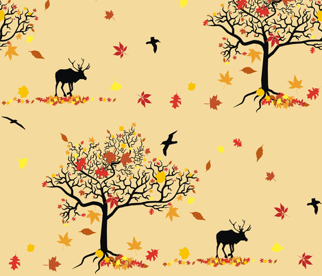 Autumn Leaves fabric by smuk on Spoonflower - custom fabric