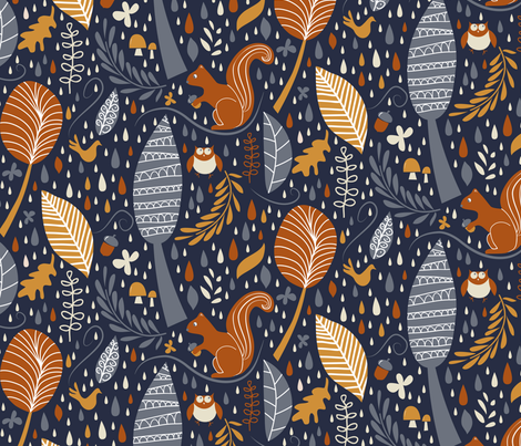 Vive l'automne ! fabric by demigoutte on Spoonflower - custom fabric