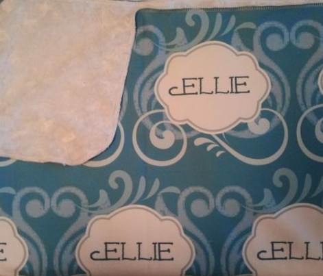 Island Wave Blue Personalized -Ellie Vertical