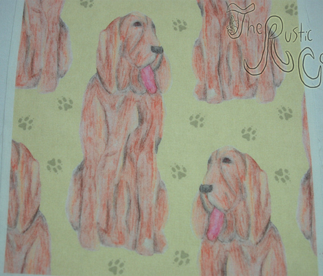 Sitting watercolor Bloodhounds