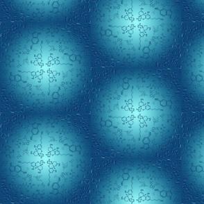 Stimulating Chemistry in Cyan Blue
