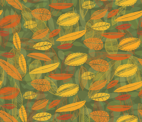 Fall Leaves #1 fabric by tasha_goddard_designs on Spoonflower - custom fabric