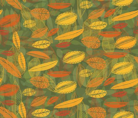 Fall Leaves #1 fabric by tasha_goddard_designs on Spoonflower - custom fabric