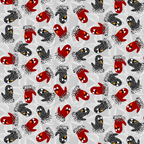 bird mittens ditsy fabric fabric by glimmericks on Spoonflower - custom fabric