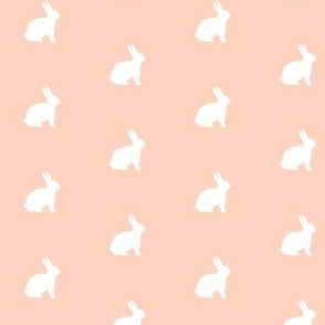 White Bunny Soft Peach