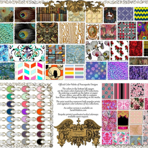 Peacoquette Designs ~ 2014 Color Palette ~ Customizable