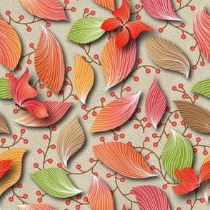 automne feuilles papillon trompe l'oeil