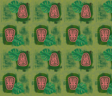 Havaiki Holiday, Spirit of Havaiki, fiji fern fabric by sophista-tiki on Spoonflower - custom fabric