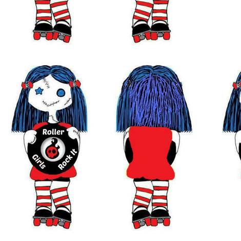 7 in Rocking Roller derby doll