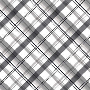 Cocktail Plaid Greyscale
