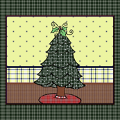 Diamond Quilted Christmas Tree Panel