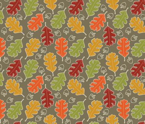 Oakcetera fabric by katielenius on Spoonflower - custom fabric