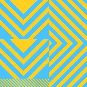 Clash/Jem's Blue & Yellow Chevron