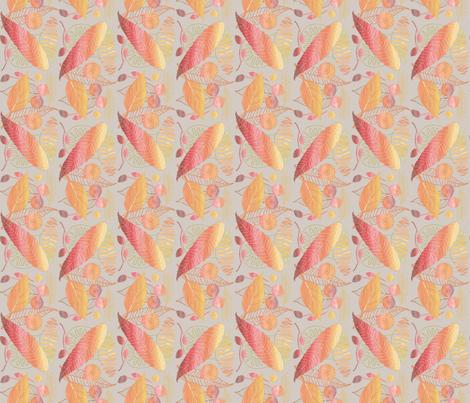 Autumn Leaves fabric by j9design on Spoonflower - custom fabric