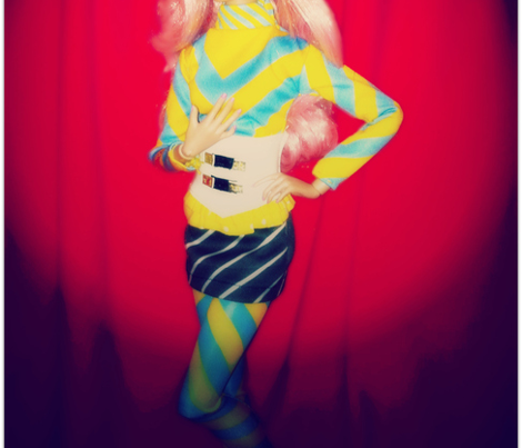 Clash/Jem's Blue & Yellow Stripes