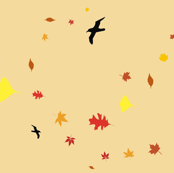 Flying with Leaves