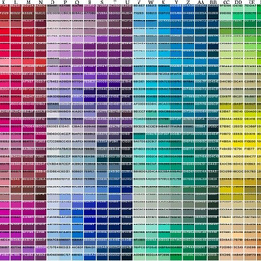 Spoonflower Color Map as wallpaper swatch