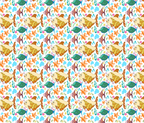 cute fishes fabric by lisenok on Spoonflower - custom fabric