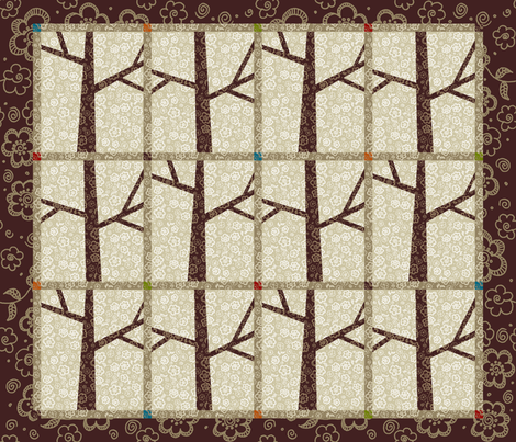 Trees Wall Hanging fabric by kdl on Spoonflower - custom fabric