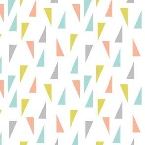 Triangle Confetti - Aqua Pink Yellow Gray