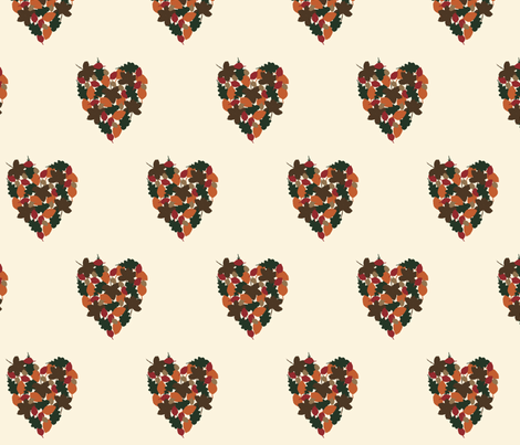 Autumn Love fabric by flossy_fleur on Spoonflower - custom fabric