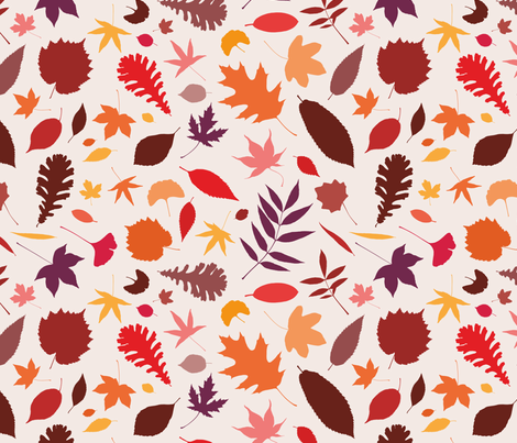 Berlin autumn leaves fabric by irina_radtke on Spoonflower - custom fabric