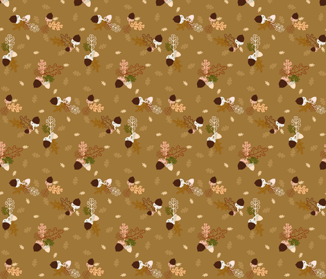Acorn Lane fabric by graceful on Spoonflower - custom fabric