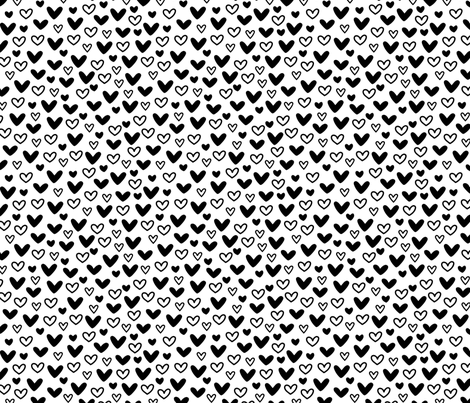 Doodle Hearts fabric by nadiahassan on Spoonflower - custom fabric