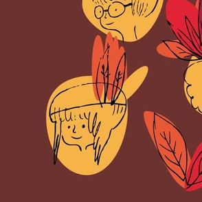 feuilles ...