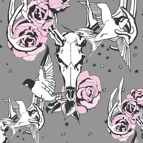Antler Rose (grey)