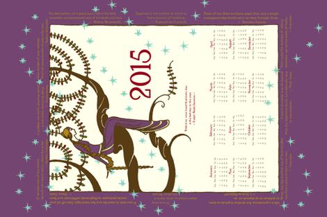 2015 Inspirational Tea towel in Violet