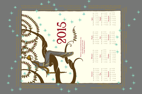 2015 Inspirational Tea towel in Silver