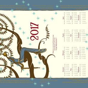 2017 Inspirational Tea Towel in Provincial Blue