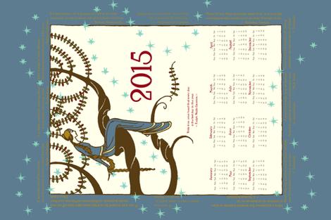 2015 Inspirational Tea Towel in Provincial Blue
